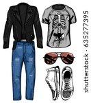 vector illustration of a male...   Shutterstock .eps vector #635277395