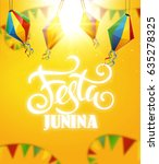 festa junina background holiday | Shutterstock .eps vector #635278325