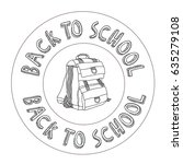 back to school | Shutterstock .eps vector #635279108