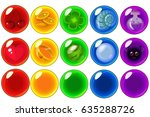 vector mobile game bubbles set  ... | Shutterstock .eps vector #635288726