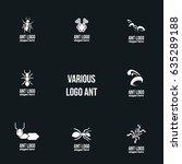 ant logo design template.... | Shutterstock .eps vector #635289188