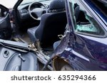 car after accident  cropped... | Shutterstock . vector #635294366