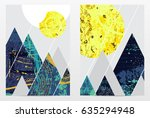 abstract geometric composition  ... | Shutterstock .eps vector #635294948