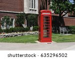 red phone booth | Shutterstock . vector #635296502