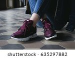 sneakers macro urban background | Shutterstock . vector #635297882