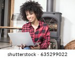 young african american woman... | Shutterstock . vector #635299022