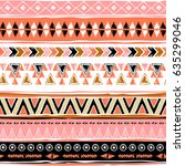 navajo abstract seamless pattern | Shutterstock .eps vector #635299046