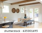 dining room in beautiful luxury ... | Shutterstock . vector #635301695
