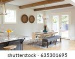 dining room in beautiful luxury ... | Shutterstock . vector #635301695