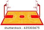 hardwood textured basketball... | Shutterstock .eps vector #635303675