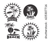 icon summer holiday on the... | Shutterstock .eps vector #635307716