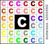 letter c sign design template... | Shutterstock .eps vector #635314502