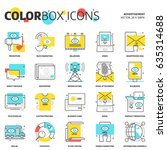 color box icons  advertisement  ... | Shutterstock .eps vector #635314688