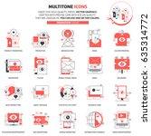 multi tone icons  advertisement ... | Shutterstock .eps vector #635314772