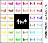 family sign. vector. felt pen... | Shutterstock .eps vector #635321276