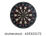 Front View Of An Dart Board On...