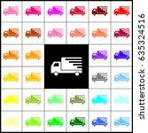 delivery sign illustration.... | Shutterstock .eps vector #635324516