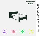bed icon vector | Shutterstock .eps vector #635328452