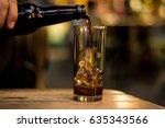 close up of a hand serving a...   Shutterstock . vector #635343566
