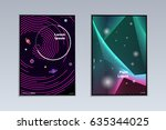 modern abstract poster design.... | Shutterstock .eps vector #635344025
