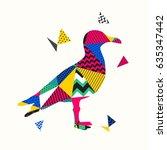 seagull illustration | Shutterstock .eps vector #635347442