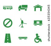 traffic icons set. set of 9... | Shutterstock .eps vector #635354345