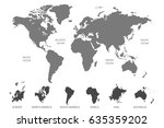 world map vector. continents... | Shutterstock .eps vector #635359202