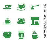 coffee icons set. set of 9... | Shutterstock .eps vector #635359886