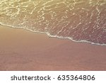 beach or coast of vintage color ... | Shutterstock . vector #635364806