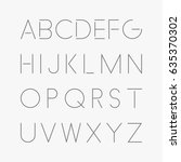 thin minimalistic font. vector... | Shutterstock .eps vector #635370302