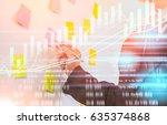 double exposure businessman and ...   Shutterstock . vector #635374868