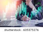 double exposure businessman and ...   Shutterstock . vector #635375276