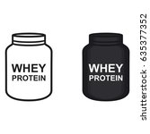 whey protein bottle icon vector | Shutterstock .eps vector #635377352