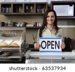 small business  happy owner of... | Shutterstock . vector #63537934