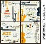 vector poster for the jazz... | Shutterstock .eps vector #635386676
