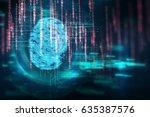 finger print scanning... | Shutterstock . vector #635387576