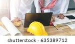 business arabic team mates... | Shutterstock . vector #635389712