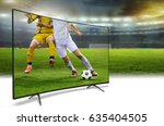 4k monitor watching smart tv... | Shutterstock . vector #635404505