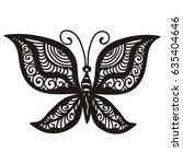beautiful butterfly. vector... | Shutterstock .eps vector #635404646