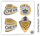 vector set icons for chess game ...