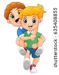 vector illustration of cartoon... | Shutterstock .eps vector #635408855