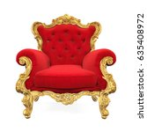 throne chair isolated. 3d... | Shutterstock . vector #635408972