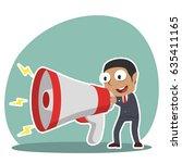 african businessman talking... | Shutterstock . vector #635411165
