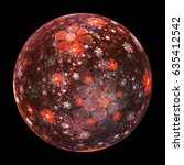 Abstract Ornamented Sphere Wit...