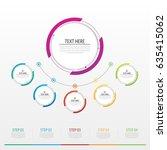 infographics number options... | Shutterstock .eps vector #635415062