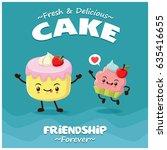 vintage cake poster design with ... | Shutterstock .eps vector #635416655