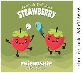 vintage strawberry poster... | Shutterstock .eps vector #635416676