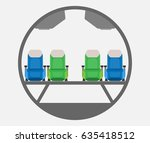 passenger narrow body airplane... | Shutterstock .eps vector #635418512