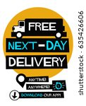 free next day delivery poster...