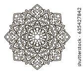 mandala. ethnic decorative... | Shutterstock .eps vector #635427842